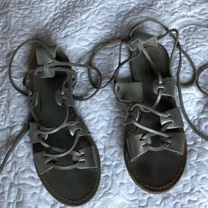 Madewell Strappy Metallic Sandals